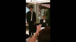 Matteo Bocelli Canta Insieme Ad Andrea Bocelli Matteo Bocelli Sings With His Father Andrea Bocelli