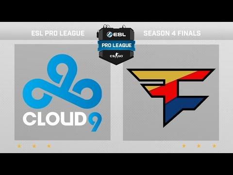 CS:GO - Cloud9 vs. FaZe [Dust2] - Finals ESL Pro League Season 4 - Day 1 - Group B