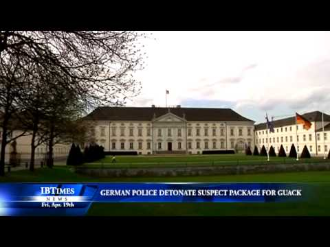 German Police Detonate Suspect Package Sent To President Office