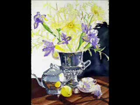 How to paint wild flowers and silver reflections in watercolors Untitled Work In Progress Video