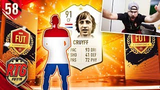 I GOT CRUYFF! FIFA 19 Ultimate Team Icon #58 RTG