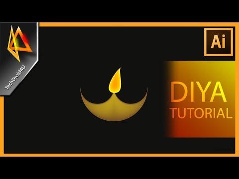 Illustrator tutorial : Make Diya/ oil lamp in adobe illustrator cc 2017; Diwali illustrator tutorial