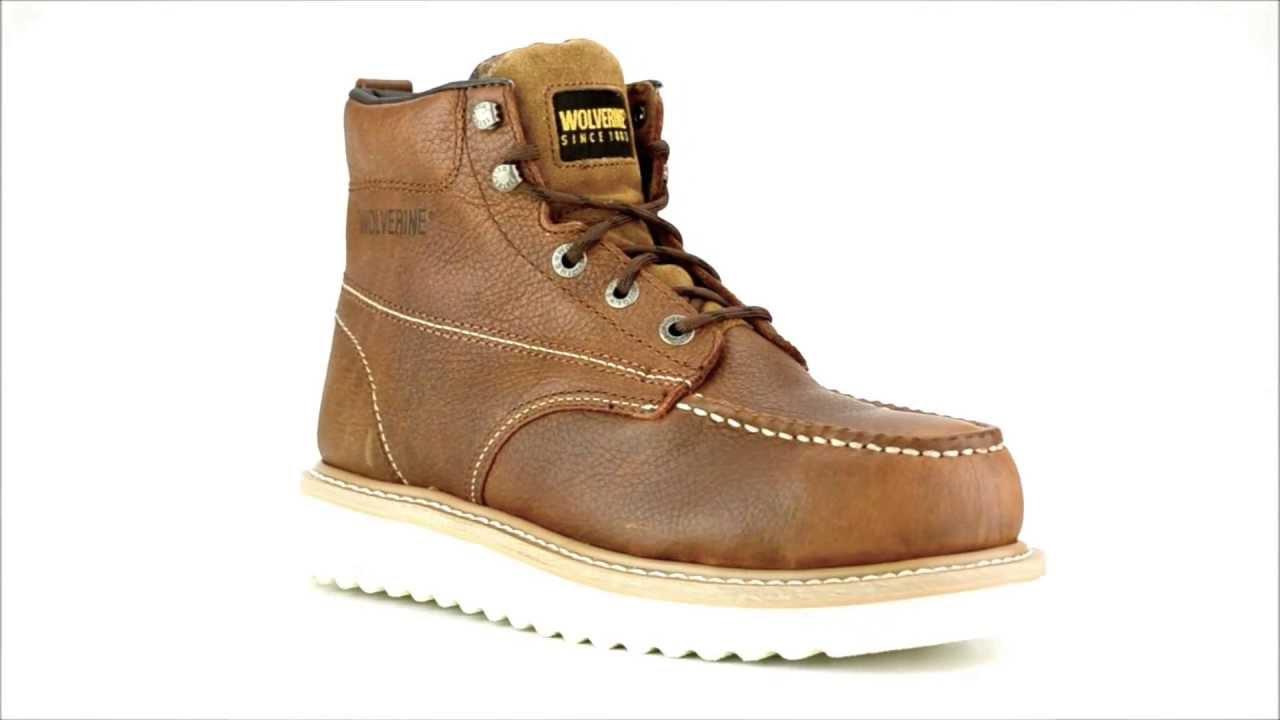 Men S Wolverine W08289 Steel Toe Wedge Sole Work Boot