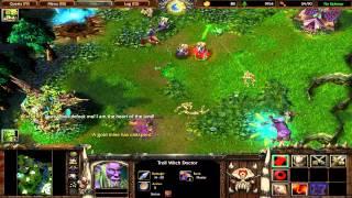 Warcraft 3 Killing Cenarius with normal Orcs