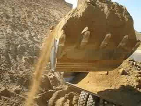 Watch Liebherr 974B and Caterpillar 769D from cab