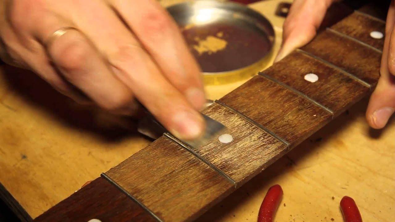 Шлифовка ладов на электрогитаре своими руками
