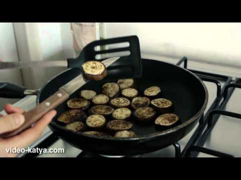 Как приготовить баклажаны на сковороде - видео