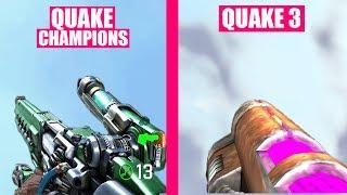 Quake Champions Gun Sounds vs Quake 3