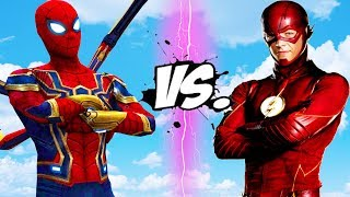 THE FLASH vs IRON SPIDER (Infinity War) - Epic Battle
