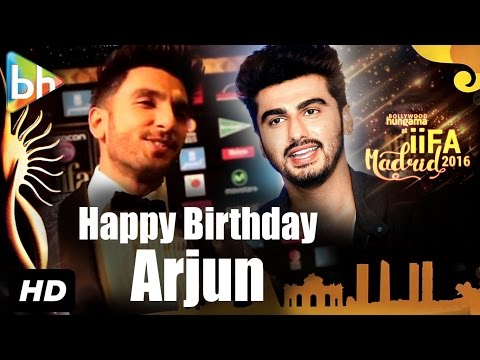 Ranveer Singh wishes Arjun Kapoor on his birthday at IIFA Awards, Madrid