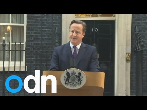 David Cameron speech after Scotland votes 'No'