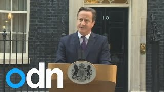 Scottish referendum: David Cameron speech after Scotland votes 'No'
