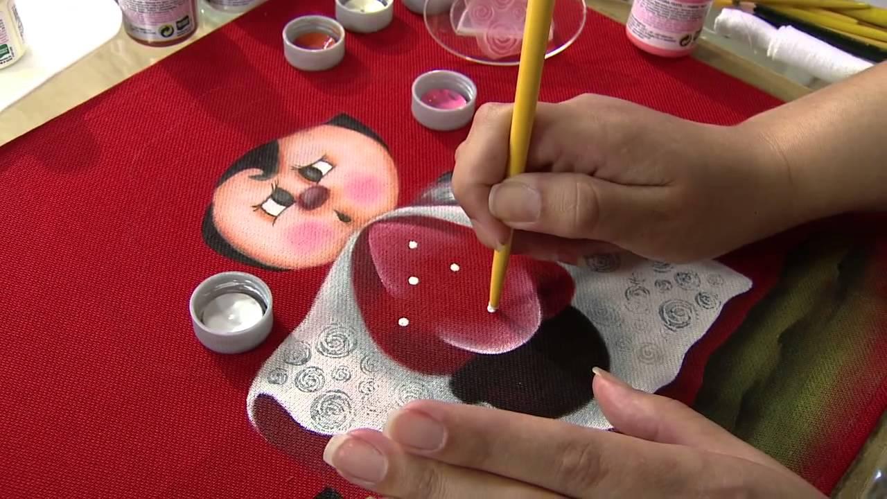 """Aprenda a fazer uma belíssima pintura em tecido, com tema """"Joaninha"""