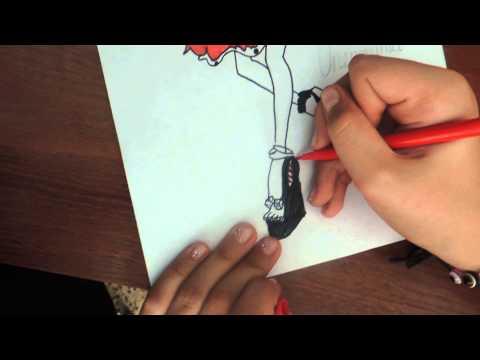 Видео как нарисовать Оперетту из Монстр Хай поэтапно