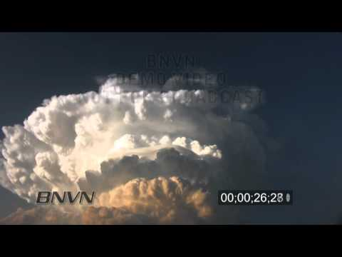 6/22/2010 time lapse storm clouds forming stock video