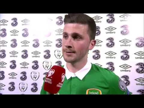 Republic of Ireland v Poland - Post Match Interview - Shane Long (29/3/15)