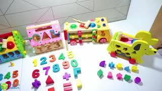 Đồ chơi gỗ thông minh an toàn cho bé yêu phát triển các kỹ năng toàn diện