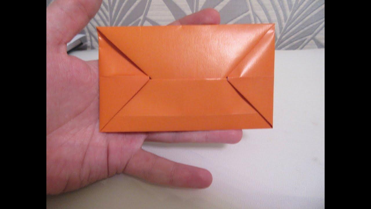 Как из оригами сделать конверт