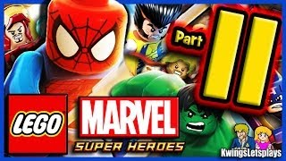 LEGO Marvel Super Heroes Walkthrough Part 11 Wolverine saving Liberty!