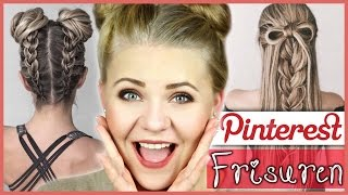 HOW TO do PINTEREST HAIRSTYLES! - Bows & Upside Down Braids