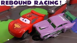 Hot Wheels Rebound Color Team Racing with Cars McQueen and Superhero Cars knockout racing  TT4U