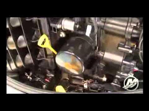 Mercury FourStroke 150 HP - Замена масла - Service Manual - YouTube