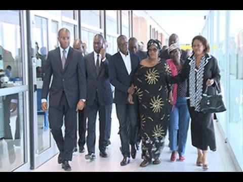 Arrivée de la femme de PAPA WEMBA à Abidjan