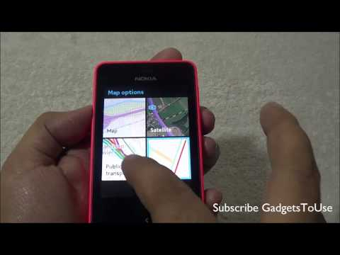 How To Use GPS Navigtation Maps on Nokia Asha 501