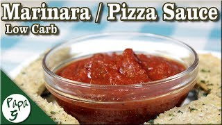Low Carb Marinara Sauce / Pizza Sauce with Garlic Parmesan Flatbread - Keto