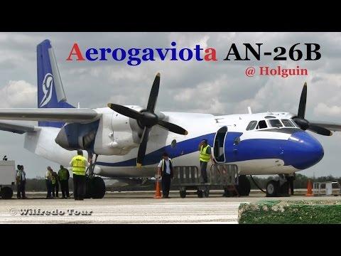 Aerogaviota An-26 Landing at Holguin, Cuba.