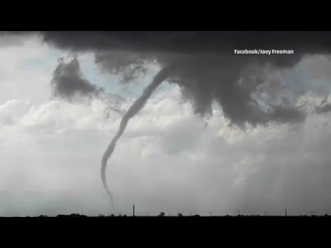 Strong Winds as Tornado Touches Down in Superior, NE