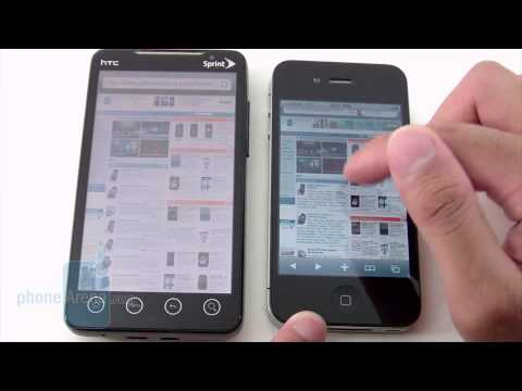 Apple iPhone 4 and HTC EVO 4G: side by side