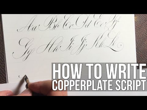 Copperplate Script Calligraphy Alphabet 4k