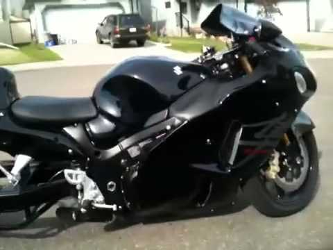 stretched hayabusa big black 330 - YouTube
