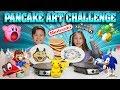 PANCAKE ART CHALLENGE - NINTENDO EDITION!!! Super Smash Bros., Super Mario Odyssey, Pokemon, Sonic! MP3