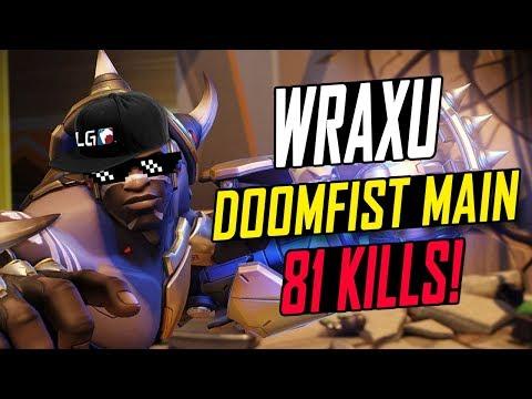 WRAXU MAIN DOOMFIST!!! 81 KILLS! HE'S INSANE!! [ OVERWATCH SEASON 5 TOP 500 ]