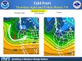 Colder storms and low snow level - NWS San Diego briefing