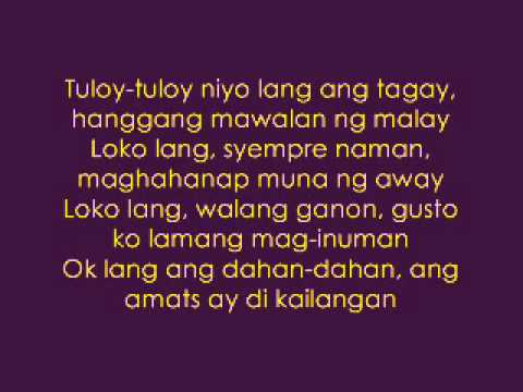 Pakiusap Lang (lasingin Nyo Ako) - Parokya Ni Edgar Lyrics video