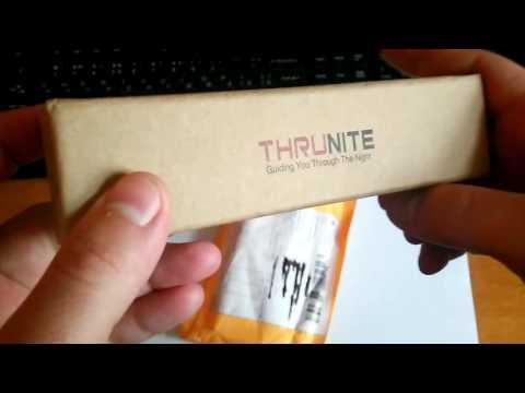 Душевный титановый фонарь Thrunite Ti4T (распаковка)