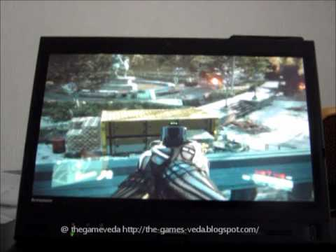 CRYSIS 2 PLAYED RAW ON THE LENOVO X220 TABLET PC