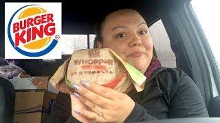 BURGER KING WHOPPER MUKBANG| CAR EATING SHOW | IM BACK!!!