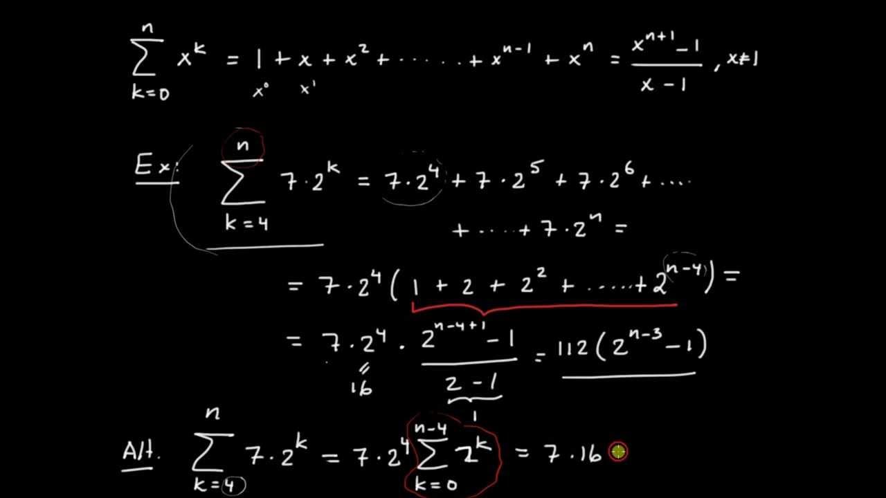 geometrisk summa
