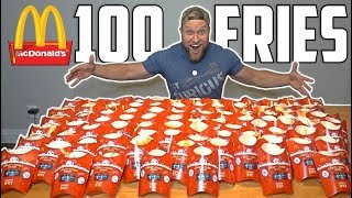 100 McDONALD's MONOPOLY FRENCH FRIES CHALLENGE!