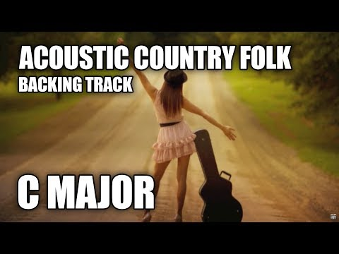 Acoustic Country Folk Guitar Backing Track In C Major video