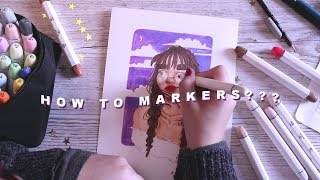 Getting into Markers! + my process // speed drawing