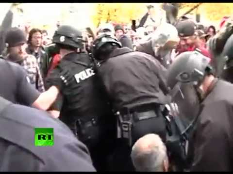Police use pepper-spray and rubber bullets at Occupy Denver protesters