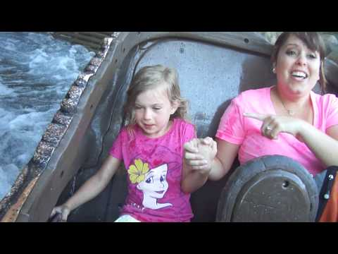 Lily makes a splash on Splash Mountain