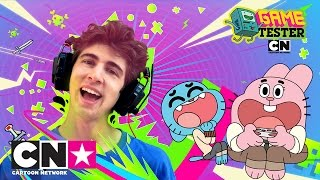 Gumball vs Favij | Game Tester | Cartoon Network