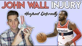 John Wall INJURY | Haglund Deformity Explained by Doctor