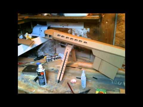 Cardboard barrett M82A1 .50cal sniper rifle